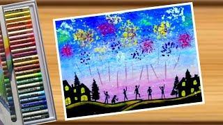 Painting happy new year วาดภาพวันปีใหม่ ด้วยสีชอล์ค