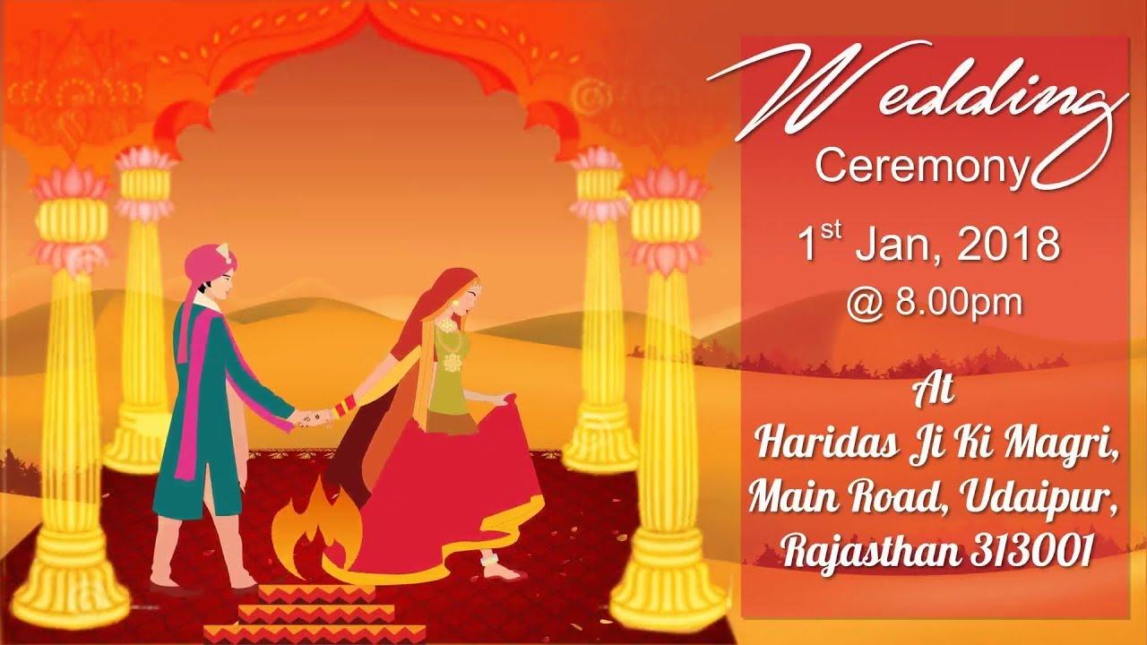 Rajasthani Style Wedding Invitation