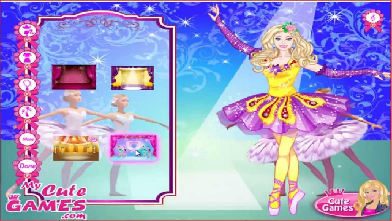 barbie in pink ballet shoes dress up game juegos de vestir kids