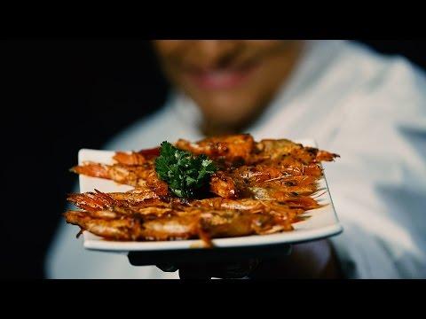 Durban's spicy pan-grilled prawns