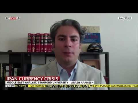 Arash Aramesh Discussing the Sudden Drop in the Value of Iranian Currency (Sky World News)