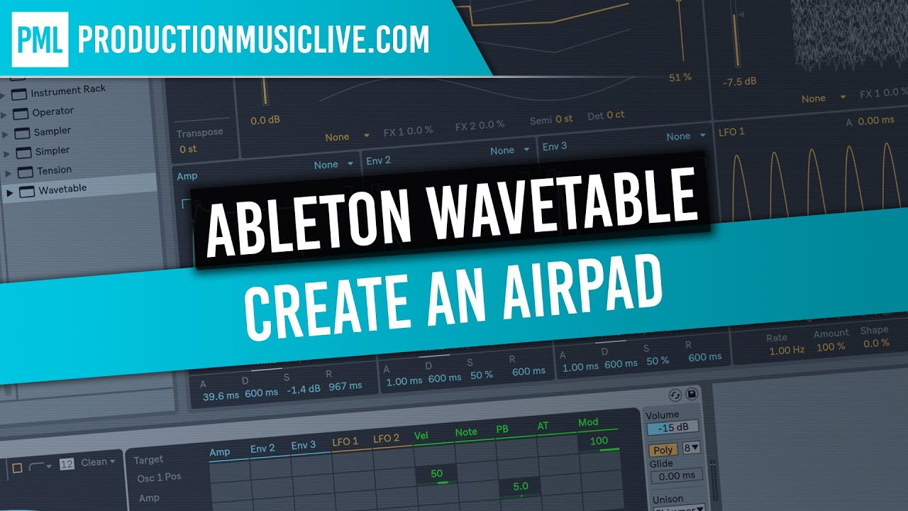 Wavetable Synth in Ableton 10 Explained - All Features +