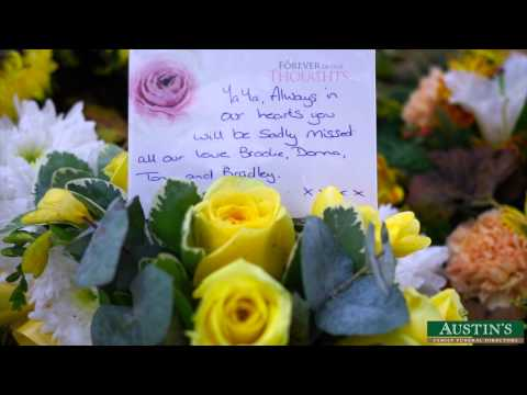 Remembering Floral Tributes - Sympathy- cards- Messages