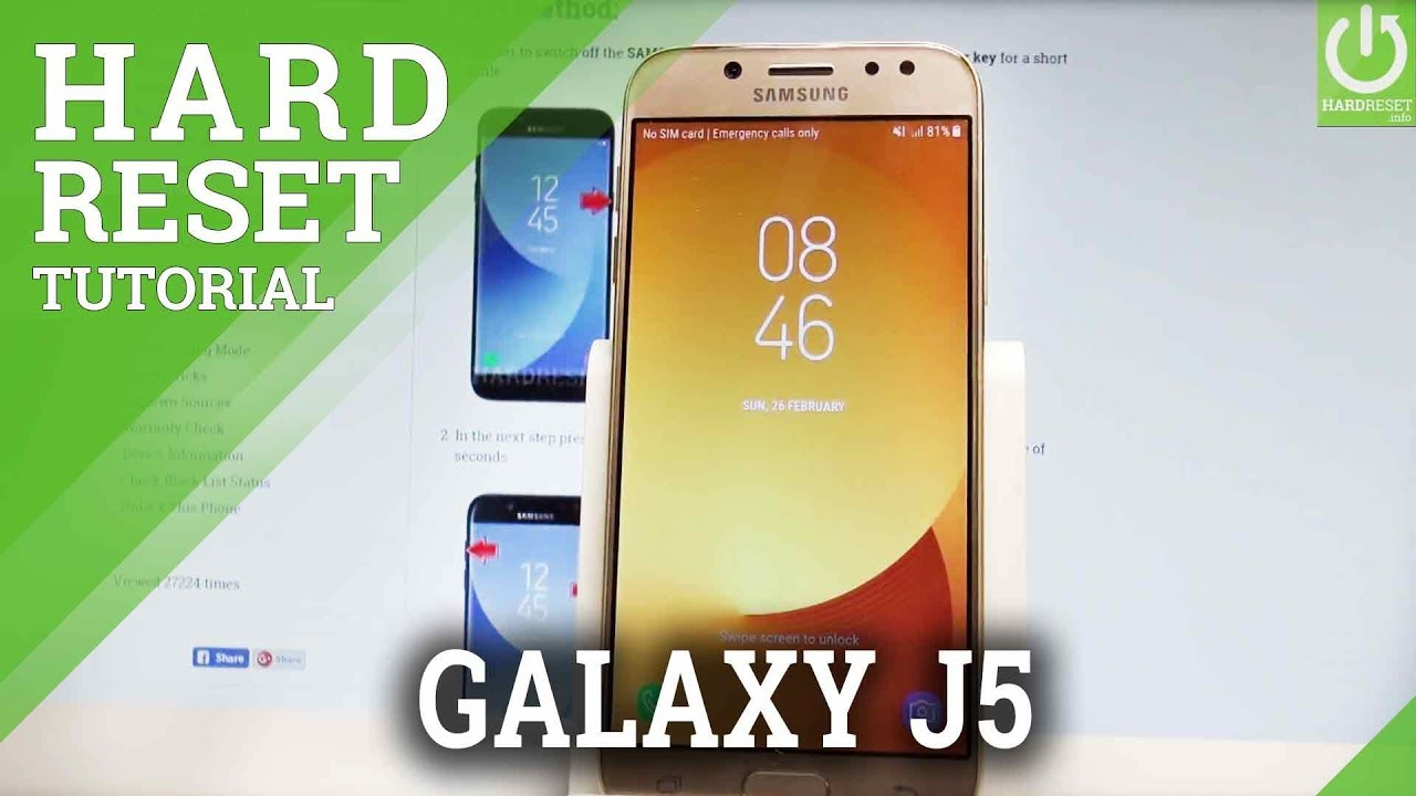 Hard Reset SAMSUNG J530 Galaxy J5 2017 - HardReset info
