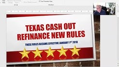 New Texas Cash Out Refinance Rules in Atascocita Effective January 2018