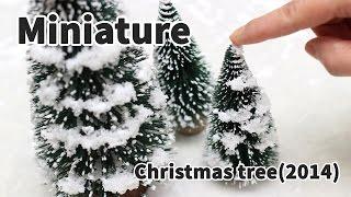 미니어쳐 크리스마스 트리 만들기(normal version) Miniature Snowy Trees