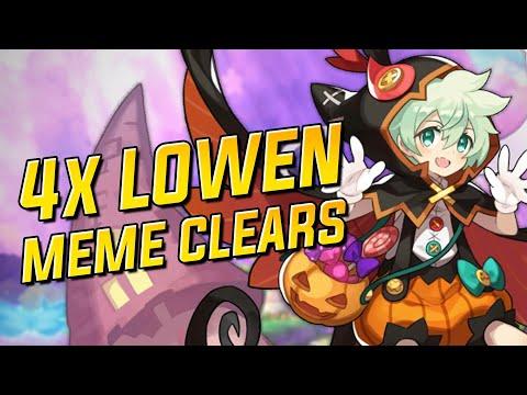 4x Lowen Meme Clears: MHMS, MHMC, ECiella, And EVolk | Dragalia Lost