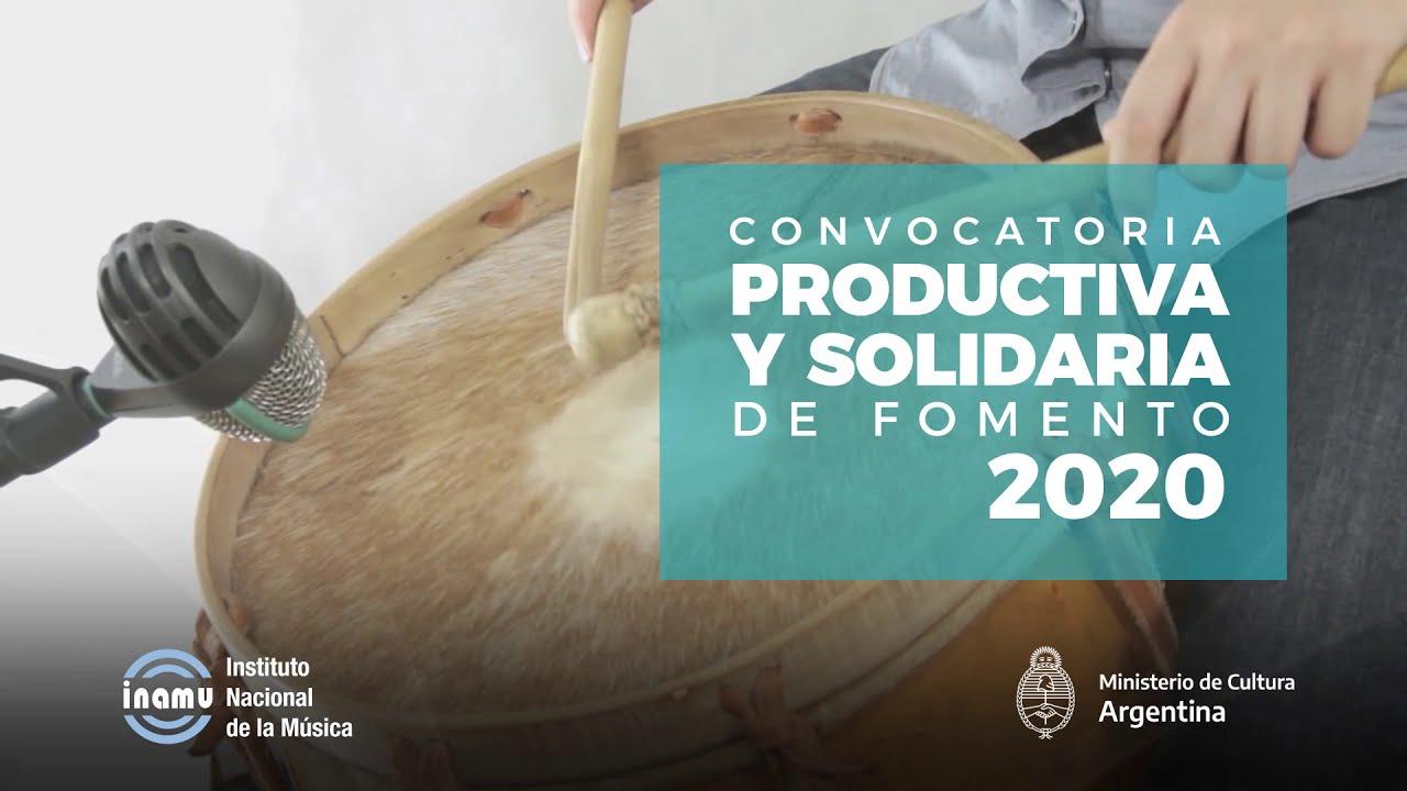 Convocatoria Productiva y Solidaria de Fomento 2020 - INAMU - Instituto Nacional de la Música
