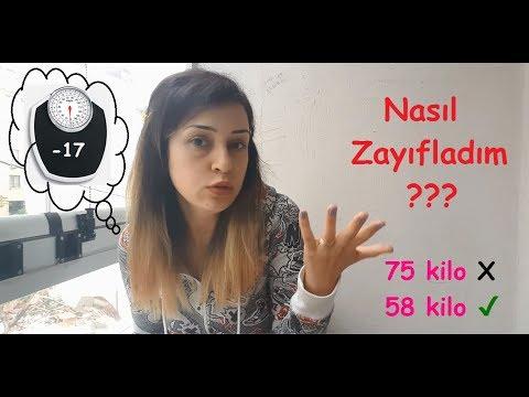 NASIL ZAYIFLADIM | 75 Kilodan 58 Kiloya |  Kişisel Deneyim
