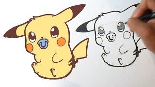 How i draw Cute Pikachu