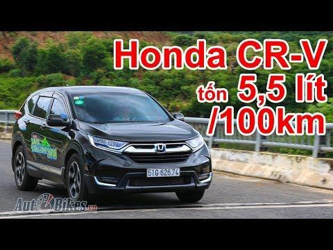 Choáng Với Honda CR-V Chỉ Tốn 5,5 Lít/100 Km. Mazda CX-5 Phát Thèm?