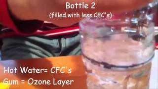 ozone layer demonstration childrens science experiments