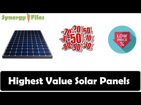 Highest Value Solar Panels in 2019