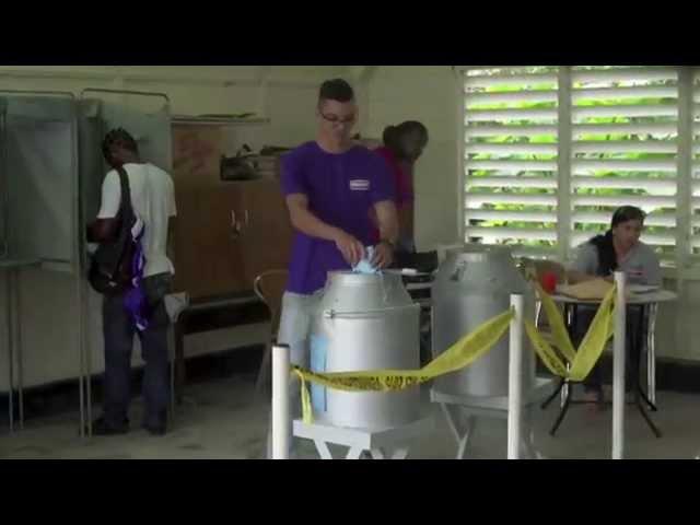 Verkiezingisdag in Suriname