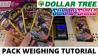 Pokemon Sword and Shield Dollar Tree Pack Weighing Tutorial