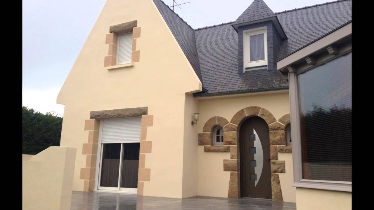 Ravalement de fa ade en peinture d coration hinault youtube for Decoration de facade maison