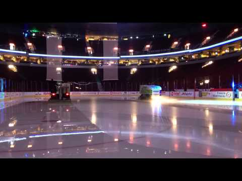 Rogers Arena ice flood, in time lapse