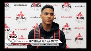 Shemar Rathan-Mayes and Orangeville Prep move to 3-0 with 80-70 win over RISE Prep