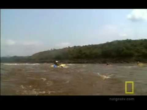 Kayaker sucked into Whirlpool on Congo River