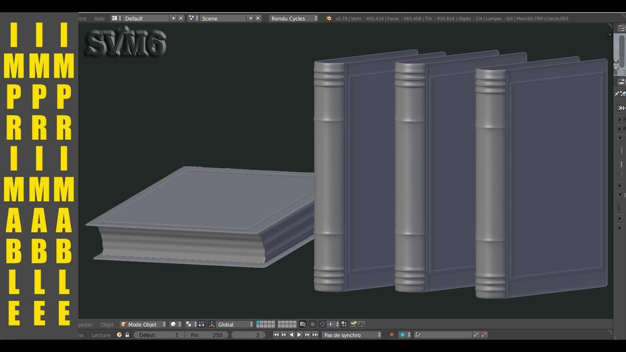 Modeliser Un Livre Iprimable Blender 3d Tutoriel Francais Svm6 N 3