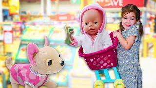 Новая одежда для Беби Бон Эмили - игра в магазин. Как мама - видео для детей