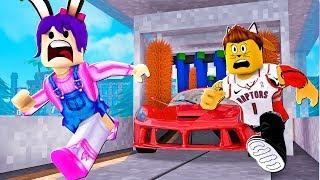 TERROR EN EL LAVACOCHES - ROBLOX - ESCAPE THE CAR WASH OBBY!