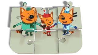 Пазлы для детей   Пазл Три Кота Коржик Карамелька и Компот   Мультфильмы для детей   puzzle for kids