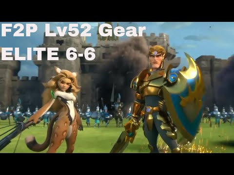Lords Mobile 6-6 Elite  3 Stars F2P Hero Guide (lvl 52 Gears)