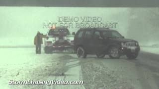 1/5/2014 Southern Illinois Interstate 57 Closure Wrecks Snow B-Roll Package