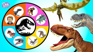 JURASSIC WORLD FALLEN KINGDOM SPIN WHEEL GAME Lots of Fun Dinosaur Surprise Toys for Kids!
