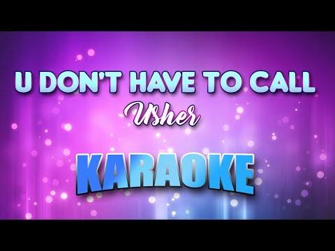 Usher - U Don't Have To Call (Karaoke & Lyrics)