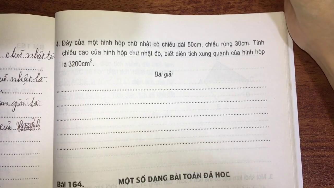 Bài 163: Luyện tập chung (trang 109, 110)- Vở bài tập toán lớp 5 tập 2