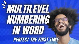 Het Maken Van Multilevel Nummering In Word (Die Echt Werkt)