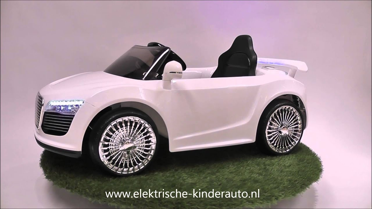 elektrische kinderauto rs spyder wit youtube. Black Bedroom Furniture Sets. Home Design Ideas