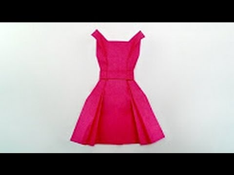 Origami Tutorial How To Fold Origami Dress Youtube