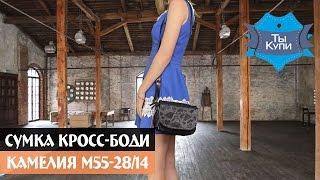 Женская сумка кросс-боди из кожзама Камелия М55-28/14 купить в Украине. Обзор