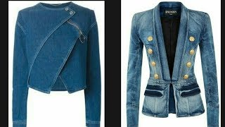 Latest Jeans Denim jacket Design Collection For Girls/Collection Of 2018