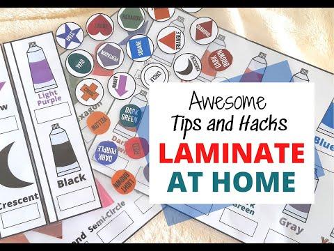 Laminating Without A Laminator You