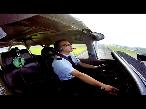 First Solo Flight with ATC Cessna 172 ITAC Guadalajara (Full Flight)