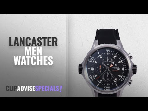 10 Best Selling Lancaster Men Watches [2018 ]: Lancaster Italy - Men's Watch OLA0669S/SS/NR/NR