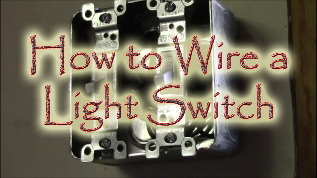 How to Wire a Double Gang Box Light Swtich YouTube