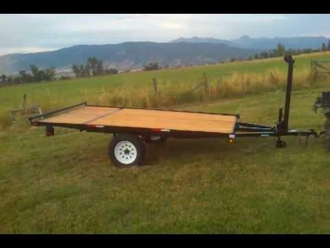 2014 7x12 tilt tounge custom raft trailer trailer