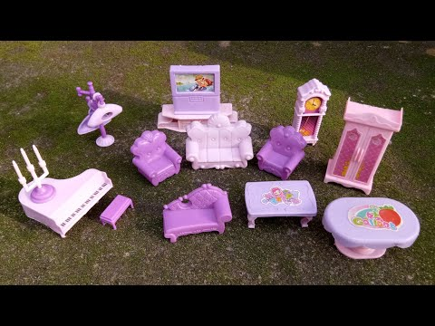 Doll House Living Room Things Toys Set For Girls