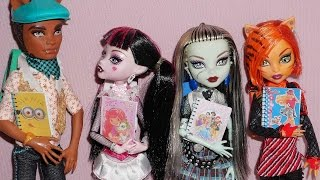 How to make a school notebook for doll (Monster High, MLP, EAH, Barbie, etc)