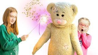 Дома НАСТОЯЩИЙ Медведь Тедди!