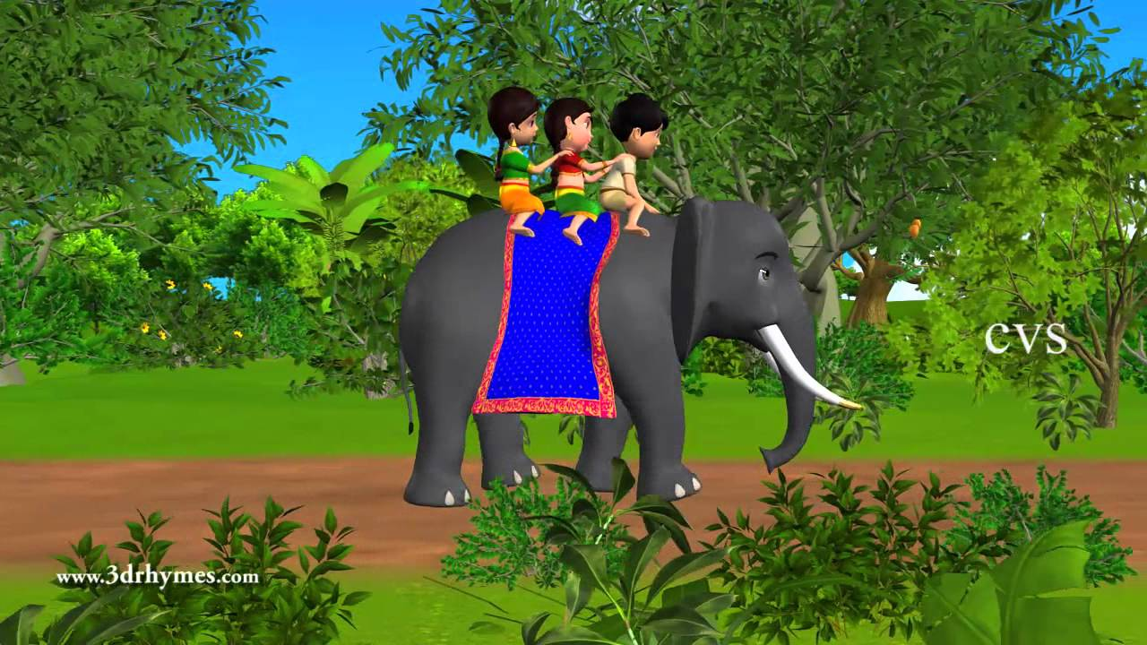 5194dbad9d993d Elly the Elephant - 3D Animation English Nursery rhyme for children ...