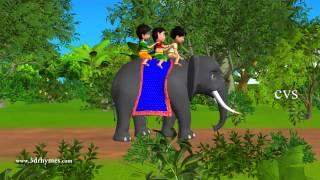 Elly the Elephant - 3D Animation English Nursery rhyme for children