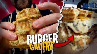 Ce double Burger Gaufre n'a tenu que 5 minutes...