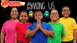 Among Us In Real Life! ZZ kids TV
