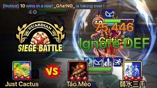 75k Ignore Defense with a 10-Win Streak in G3 Siege Battle! Lets go G - Unit!! - Summoners War